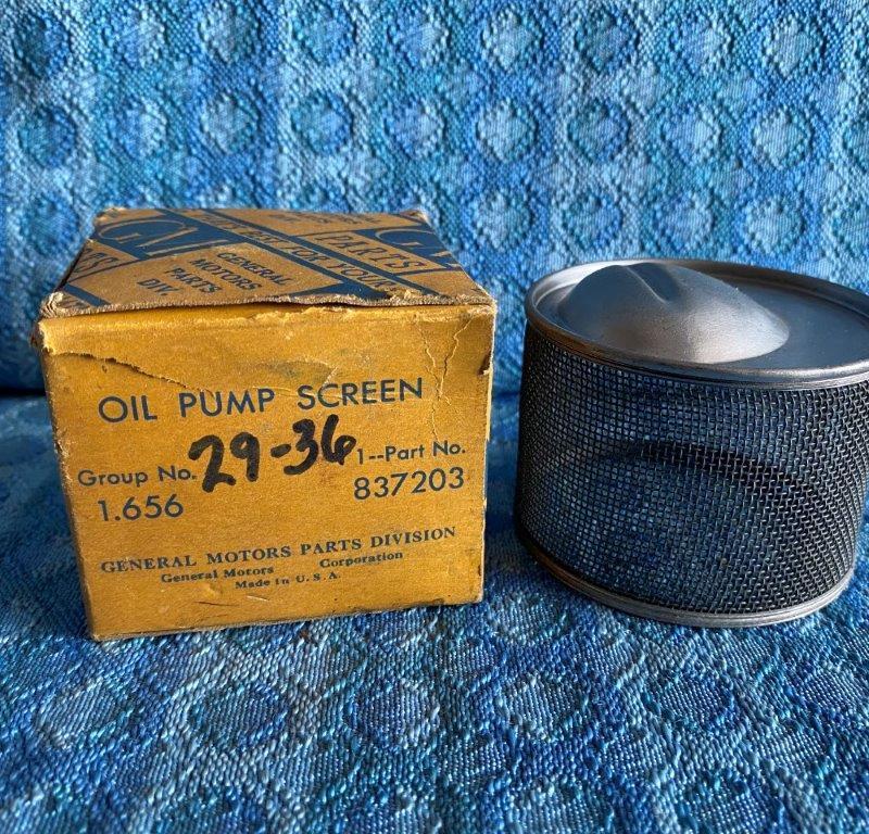 1929-1936 Chevrolet NOS GM Round Oil Pump Screen 1930 31 32 33 34 35 #837203