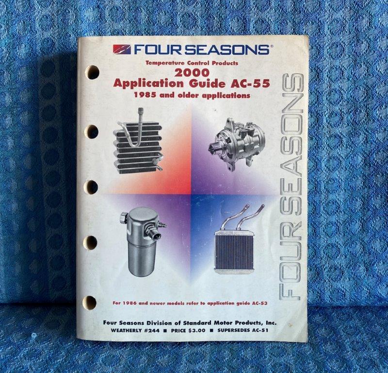 1970-1985 Four Seasons A/C Heater Parts Application Catalog GM Ford Mopar AMC VW