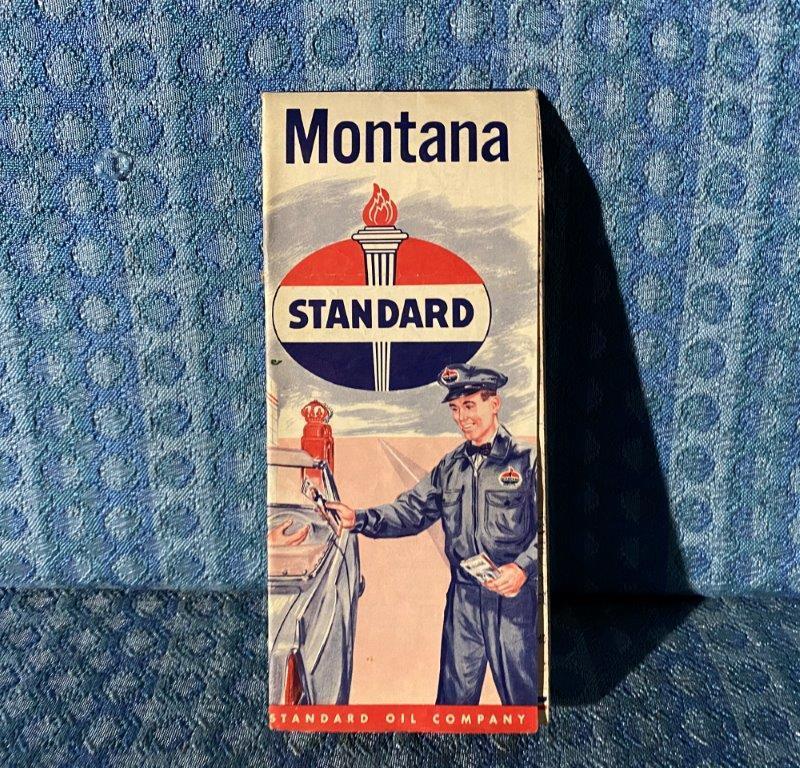 1956 Montana Standard Oil Co. Original Road Map