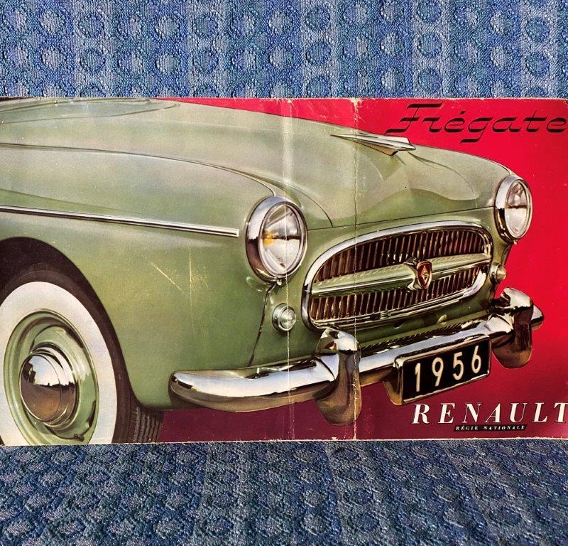 1956 Renault Fregate Original Large Sales Brochure for U.S. / Canadian Market