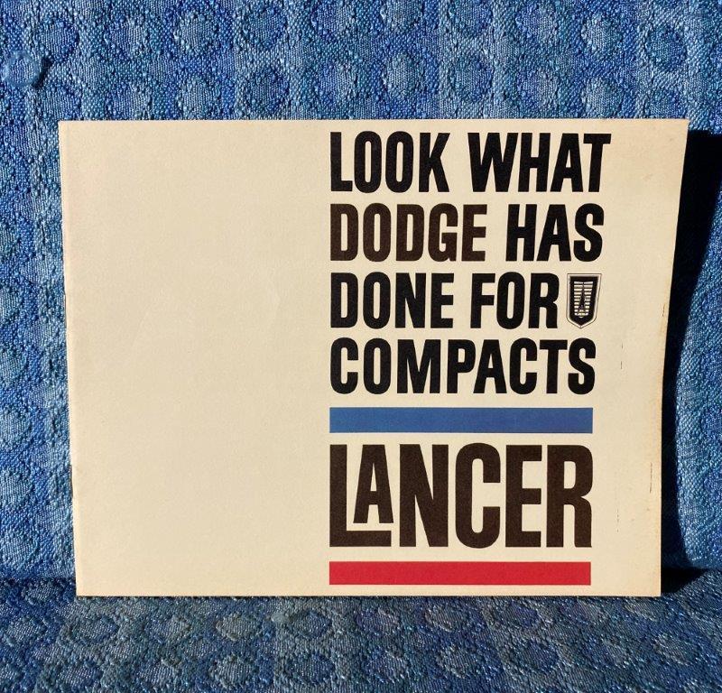 1961 Dodge Lancer 170, 770 Original Saver Sales Catalog