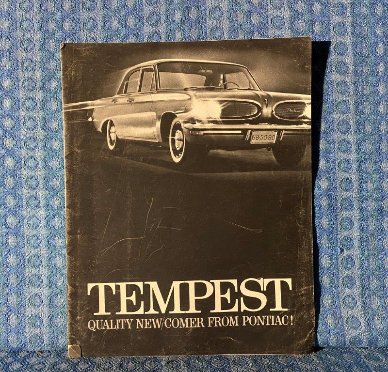 1961 Pontiac Tempest Original Large Deluxe Sales Brochure