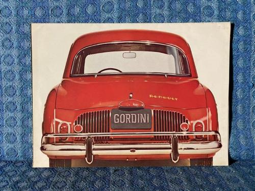 1961 Renault Gordini Original Sales Brochure for U.S. Market