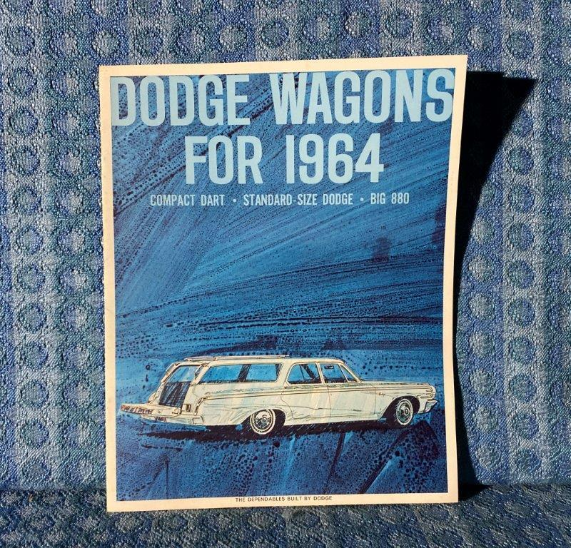 1964 Dodge Wagons Original Sales Brochure Dart, 330, 440, 880