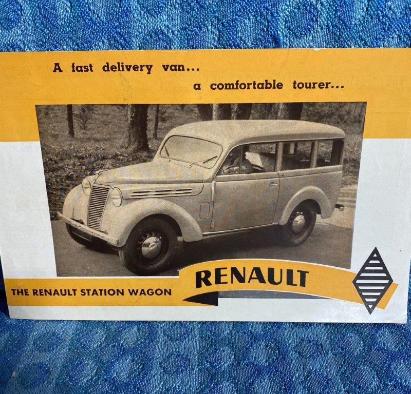 1949 Renault Station Wagon Original Sales Brochure in English