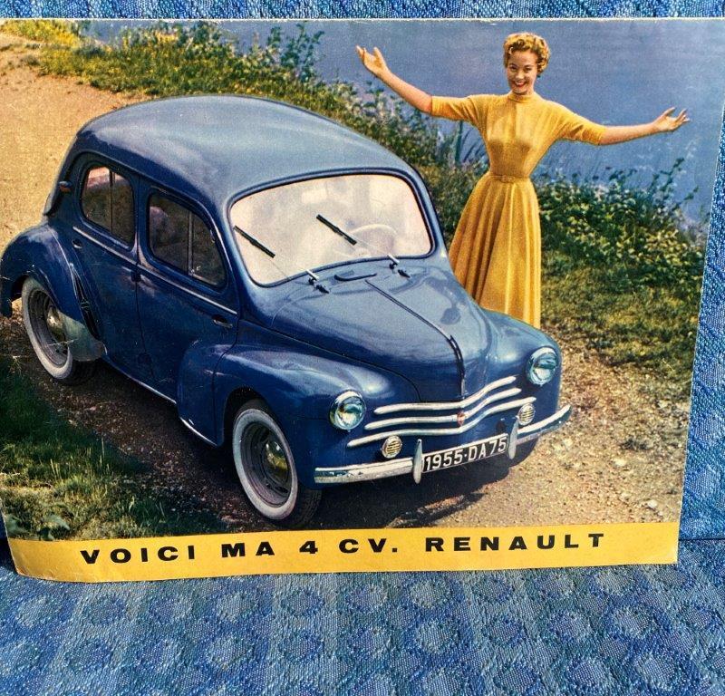 1955 Renault 750 Original French Sales Brochure