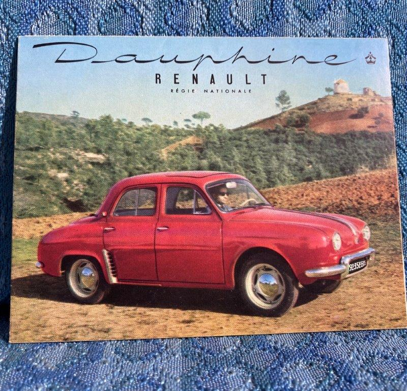 1956 Renault Dauphine Original Full Color Sales Brochure in English