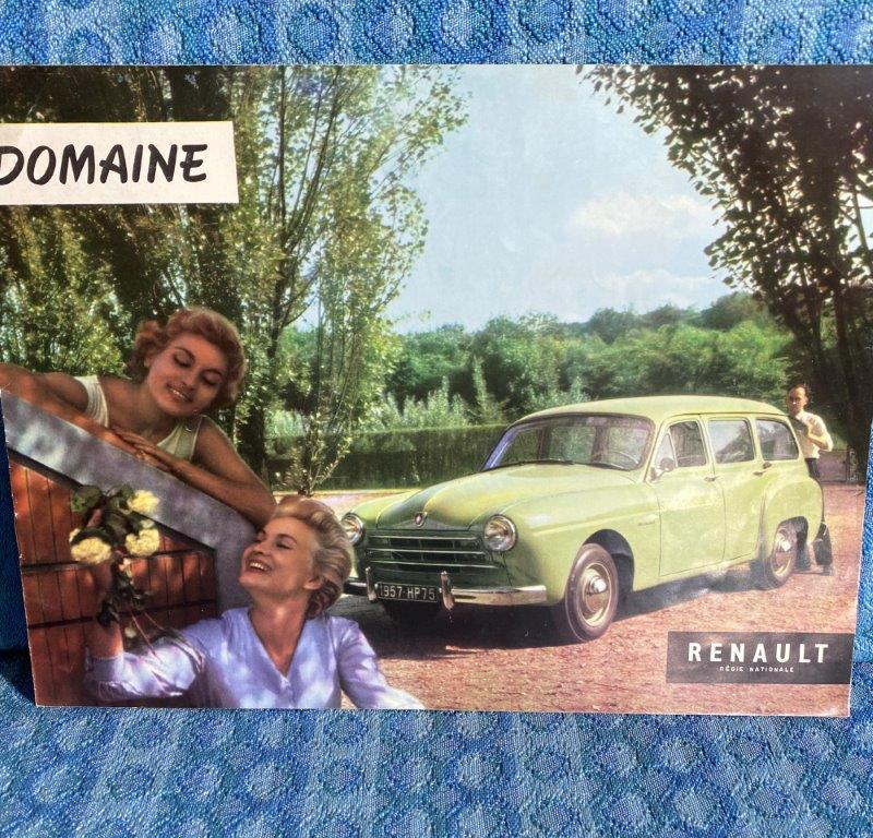 1957 Renault Domaine Original Sales Brochure / Folder in English