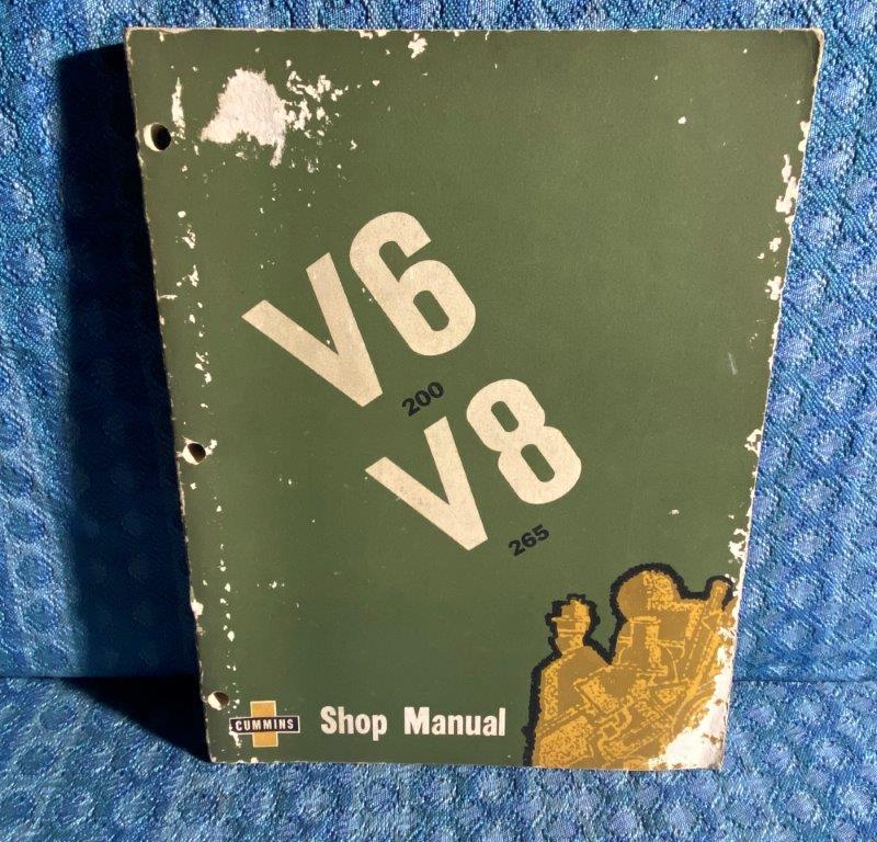 1966 Cummins Diesel V6-200 VIM & V8-265 VINE Engine Original Shop Manual