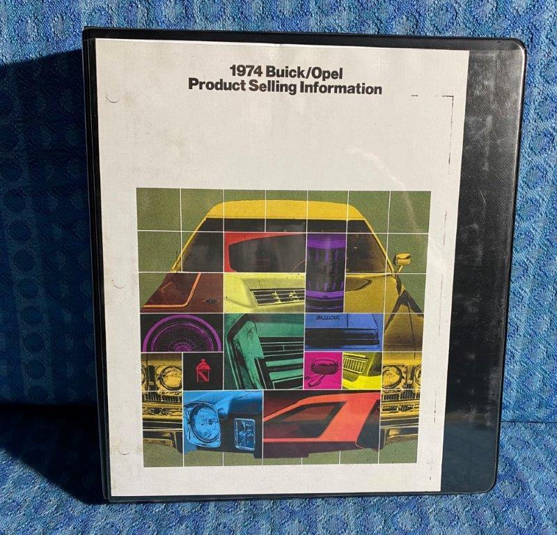 1974 Buick Dealer Salesmans Product Selling Information Album Colors Options Etc