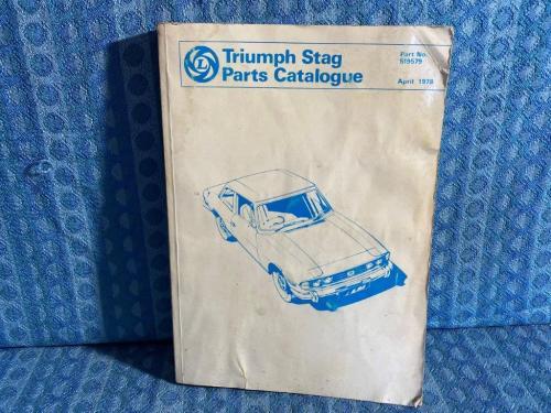 Original Factory Illustrated Parts Catalog for 1976-1978 Triumph Stag