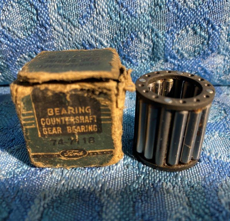 1938-1939 Ford Car 60 H.P. NOS Transmission Countershaft Rear Bearing 74-7115