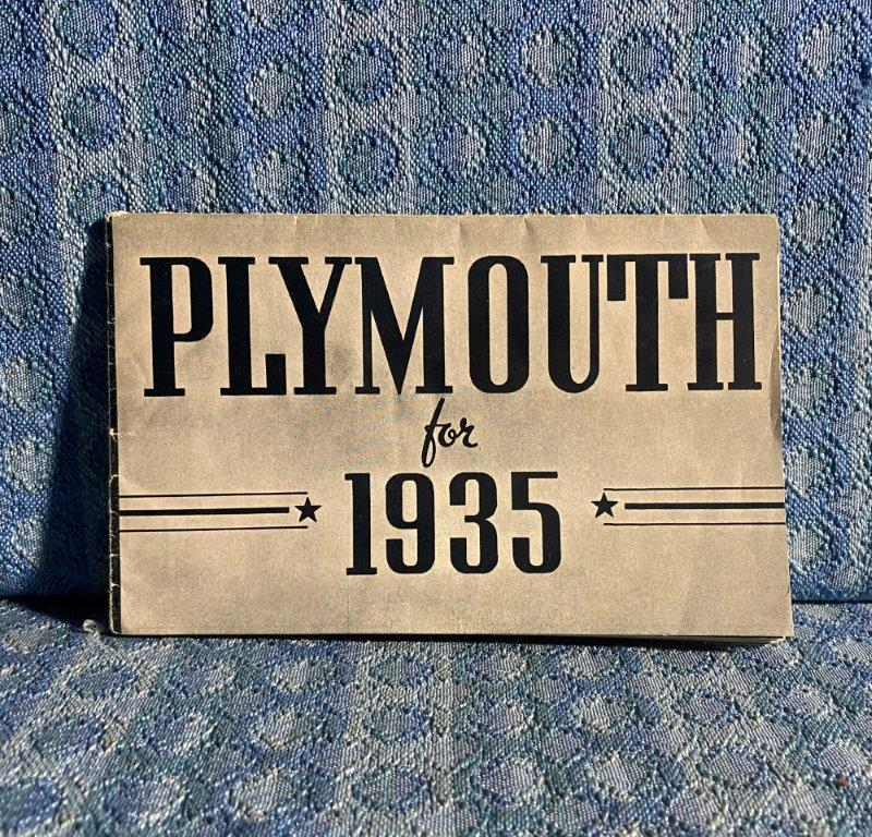 1935 Plymouth Original Sales Brochure - 12 Pages
