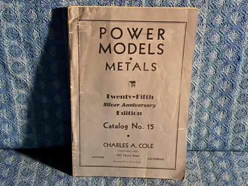 1953 Cole Model Engines, Tractors, Railroad, Original Sales Catalog