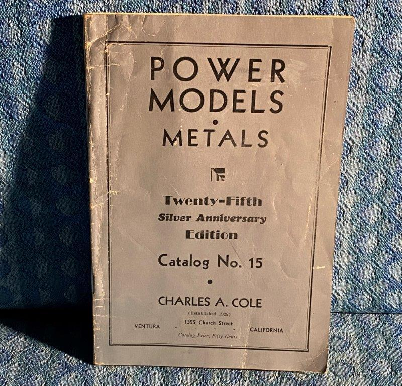 1953 Cole Model Engines, Tractors, Railroad, Original Sales Catalog