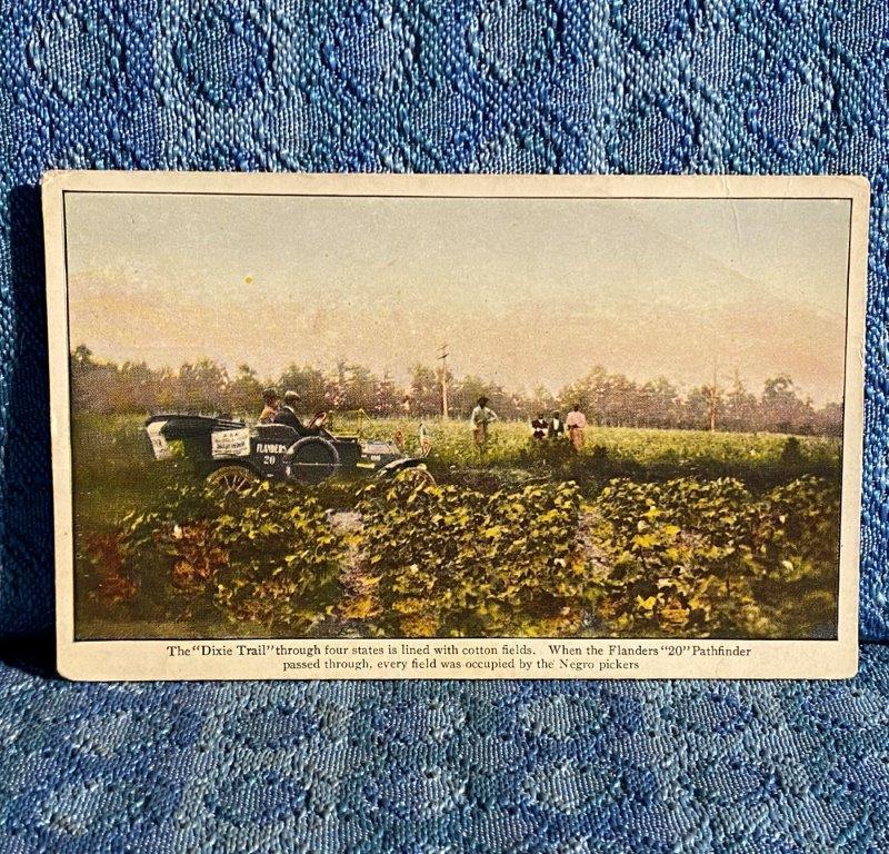1911 Flanders 20 Pathfinder Glidden Tour Cotton on Dixie Trail Original Postcard