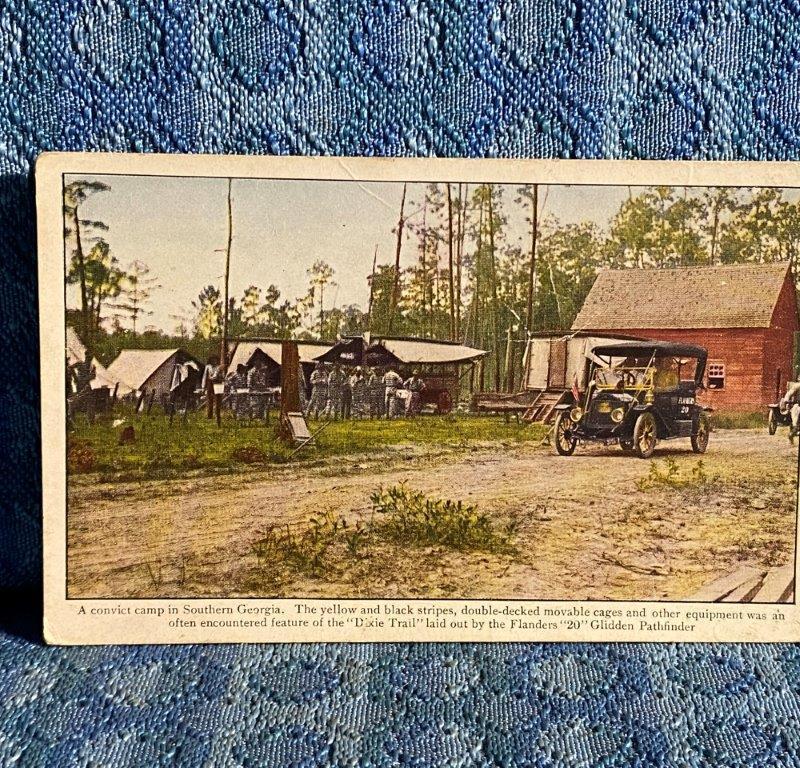 1911 Flanders 20 Pathfinder Glidden Tour in Southern Georgia Original Postcard