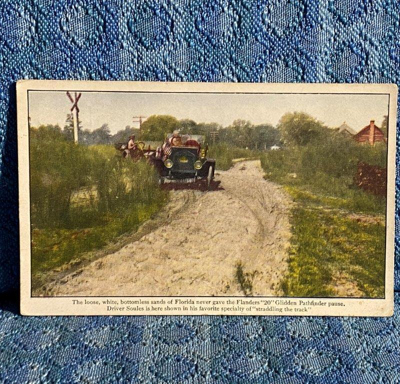 1911 Flanders 20 Pathfinder Glidden Tour in the Sands Florida Original Postcard