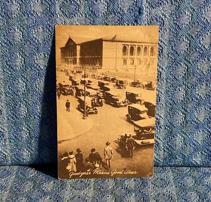 1924 Goodyear Tire Chicago IL Original Advertising Postcard A E King Flanagan IL