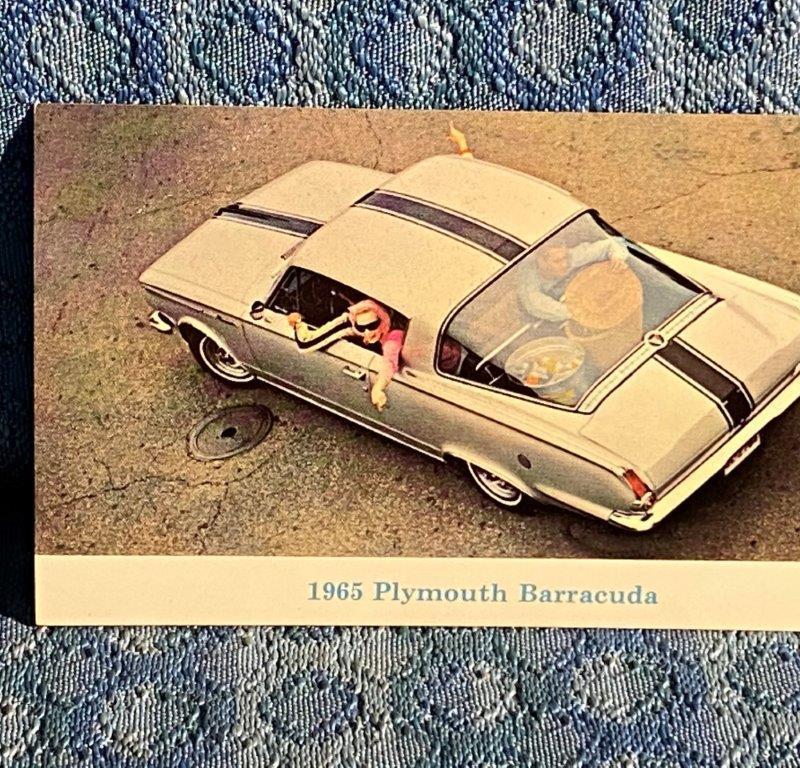 1965 Plymouth Barracuda Original Factory / Dealer Advertising Postcard