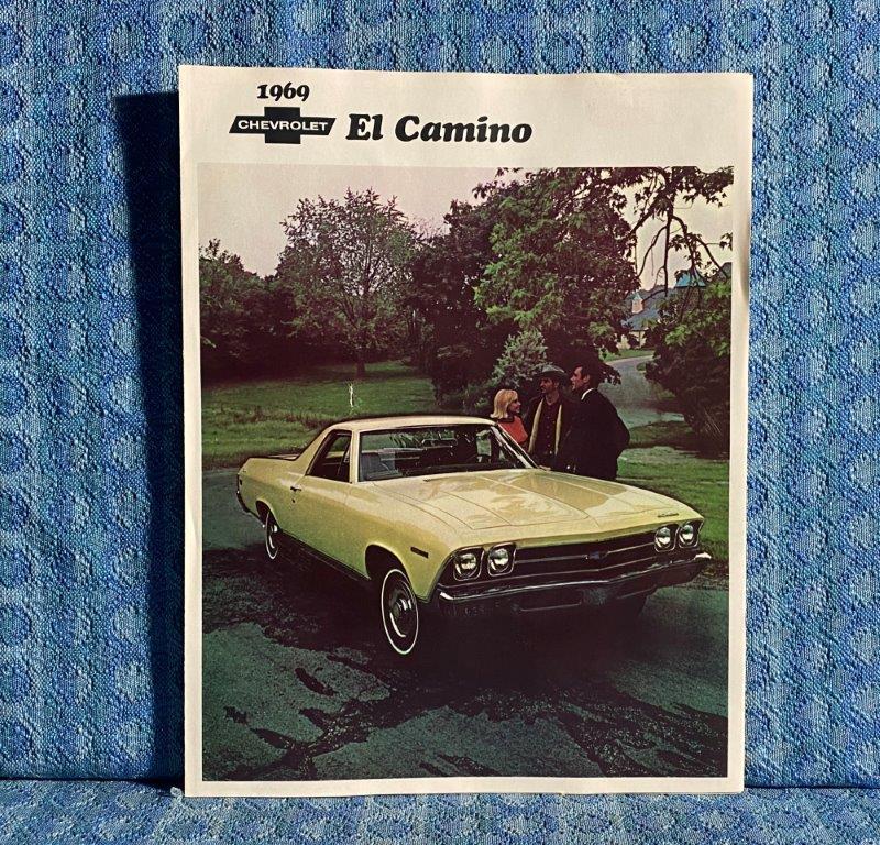 1969 Chevrolet El Camino NOS Original Sales Brochure