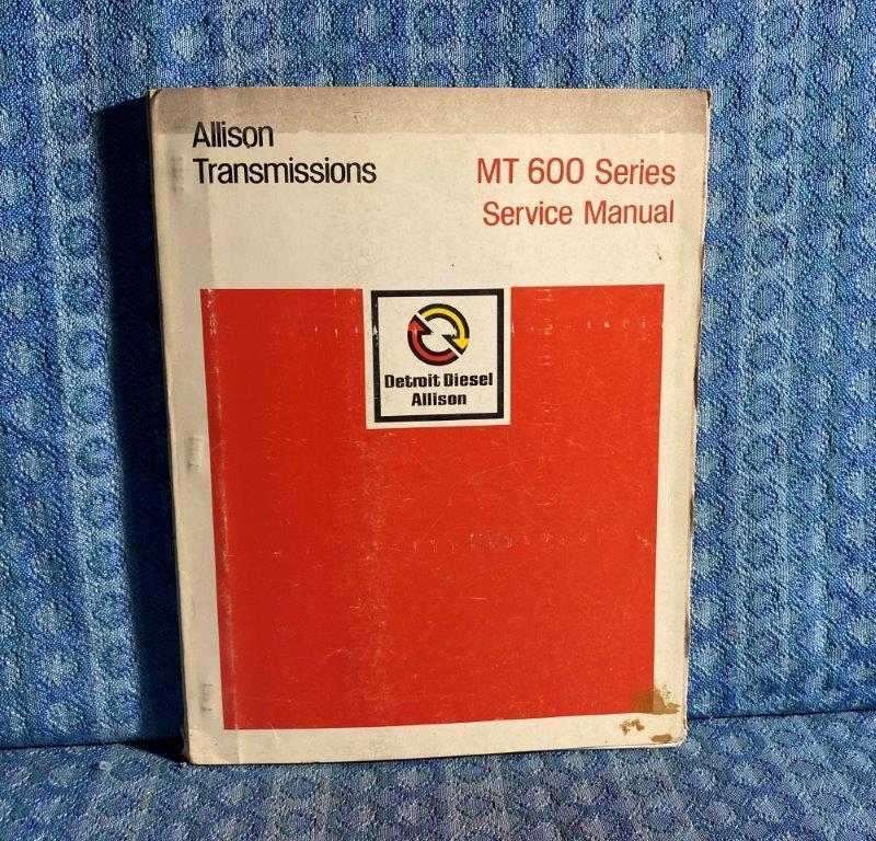 1972-1975 Detroit Diesel Allison MT 600 Automatic Transmission Service Manual