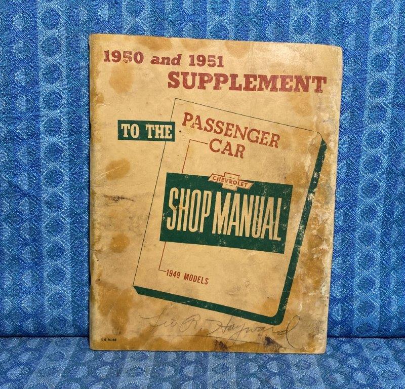 1950 & 1951 Chevrolet Shop Manual Supplement - Original