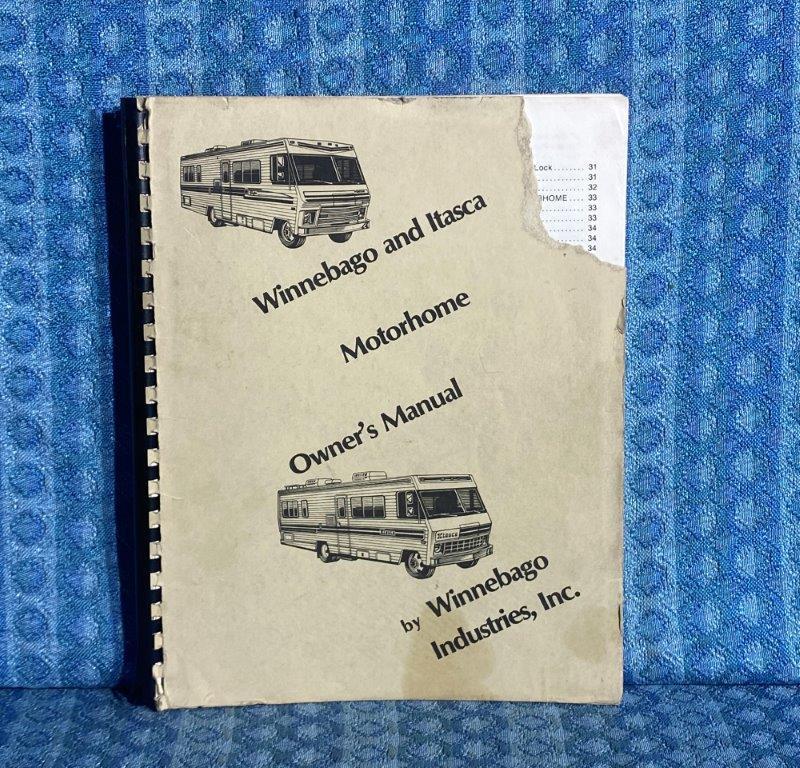 1981 Winnebago & Itasca Class A Motorhome Original Owners Manual