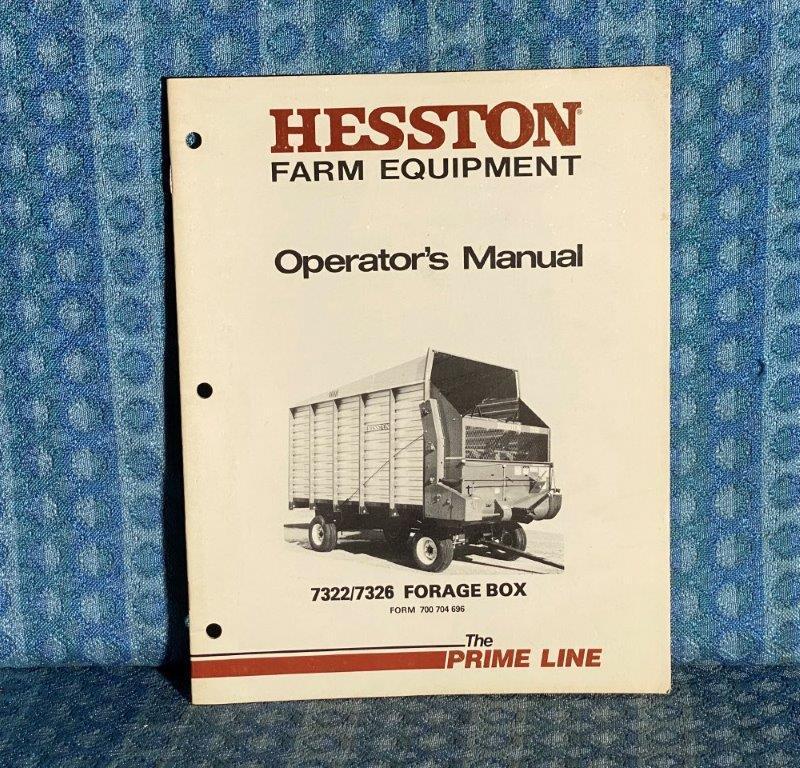 Hesston 7322 / 7326 Forage Box OEM Owners / Operators Manual