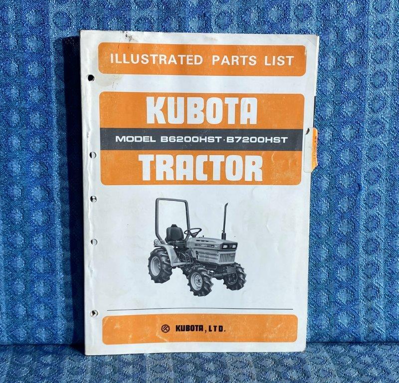 Kubota Tractor Models B6200HST & B7200HST OEM Illustrated Parts List / Catalog