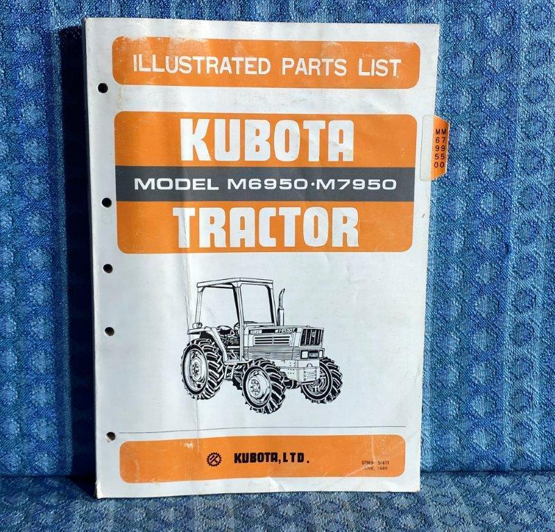 Kubota Tractor Models M6950 & M7950 OEM Illustrated Parts List / Catalog