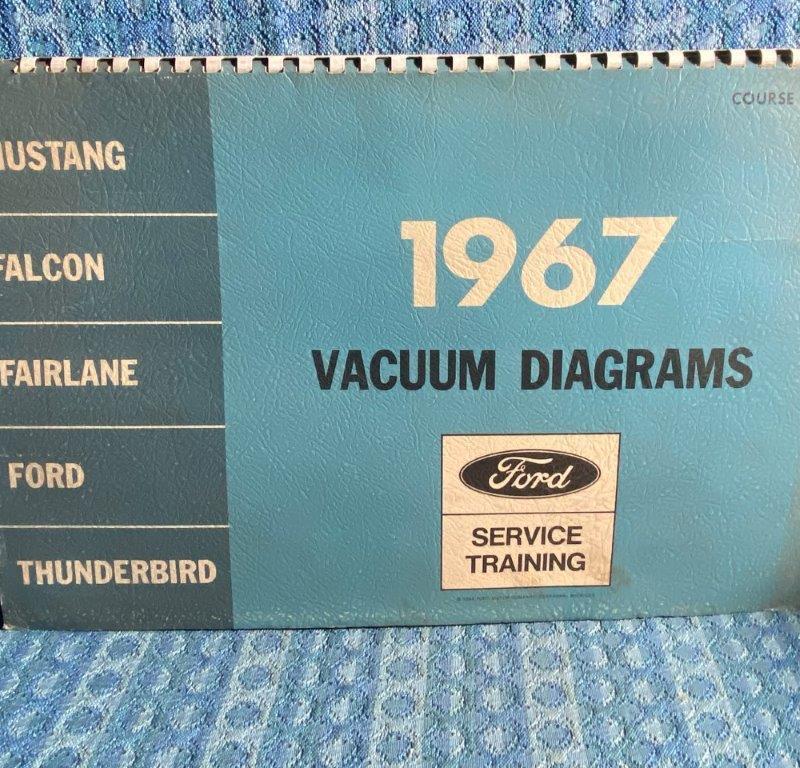 1967 Ford OEM Vacuum Diagrams Mustang Falcon Fairlane Thunderbird Galaxie Custom