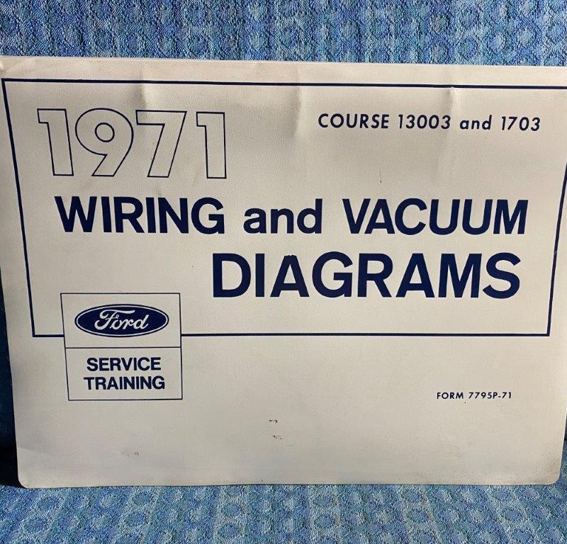 1971 Ford Lincoln Mercury & Truck OEM Wiring & Vacuum Diagrams Mustang W-Series