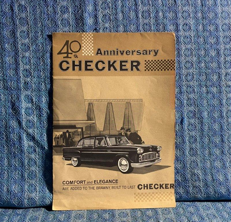 1962 Checker Motors 40th Anniversary Original Sales Brochure Marathon Superba