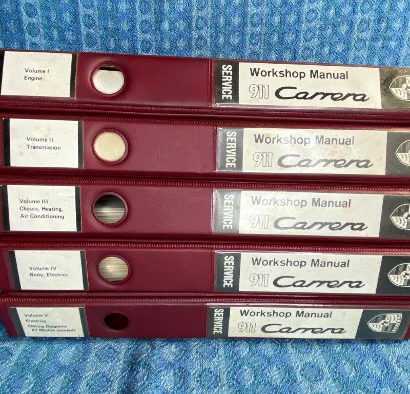 1980-1984 Porsche 911 Carrera OEM Workshop Manuals 5 Volume Set 1981 1982 1983