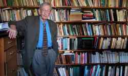 Eric Hobsbawm at his London home in 2007