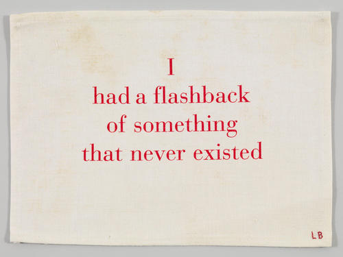 I Had a Flashback of Something that Never Existed  from Ode à l'oubli 2002. Louise Bourgeois