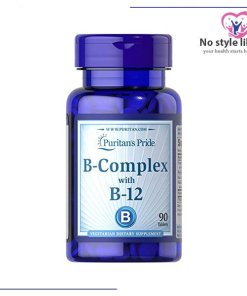 Vitamin B Complex and B-12, 90 tab مكمل غذائي