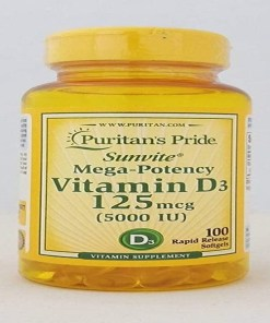 Vitamin D3 5000iu 125 meg 100 softgel