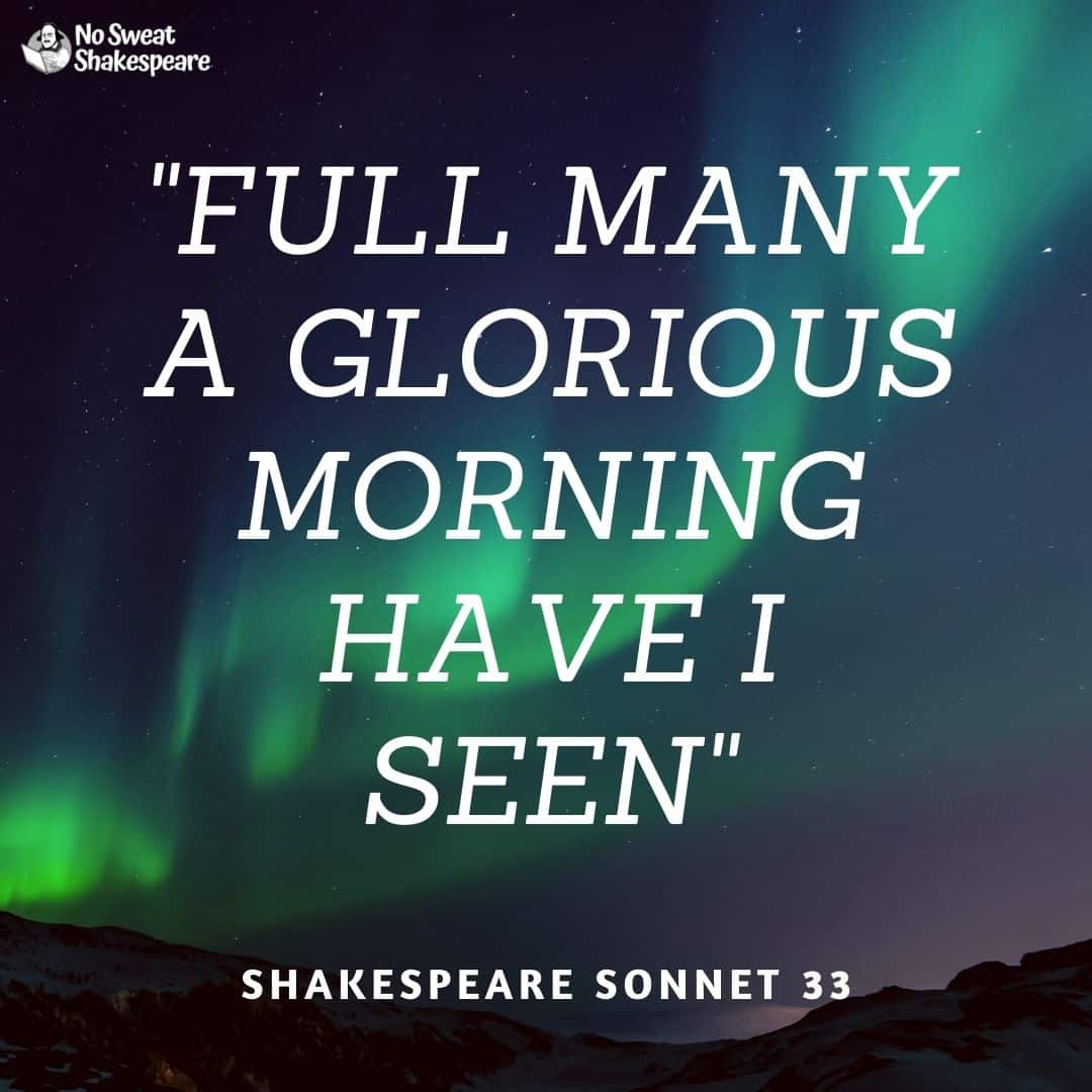 Sonnet 33 Full Many A Glorious Morning I Have Seen