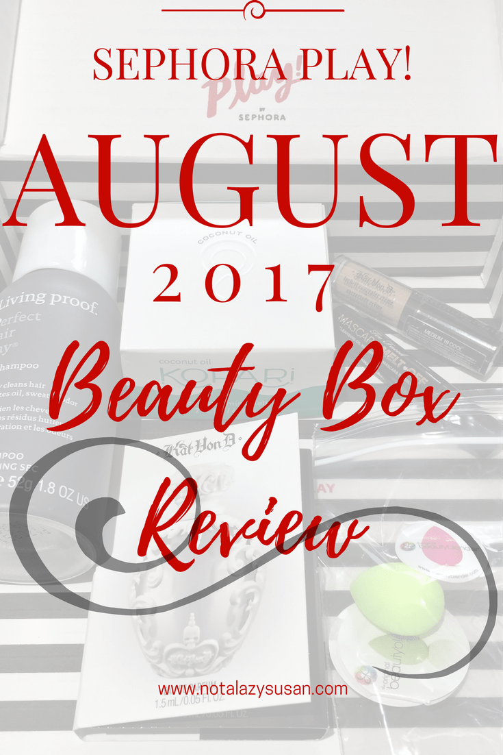 Sephora Play! Beauty Box Review August 2017