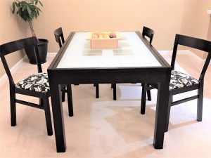 Image of dining table with how to recover dining room chairs