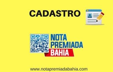 Como se cadastrarna Nota Premiada Bahia