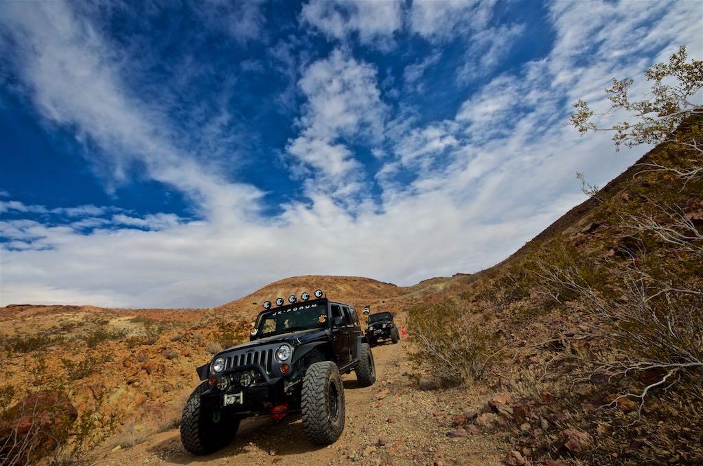 Shawn in his black Jeep JK