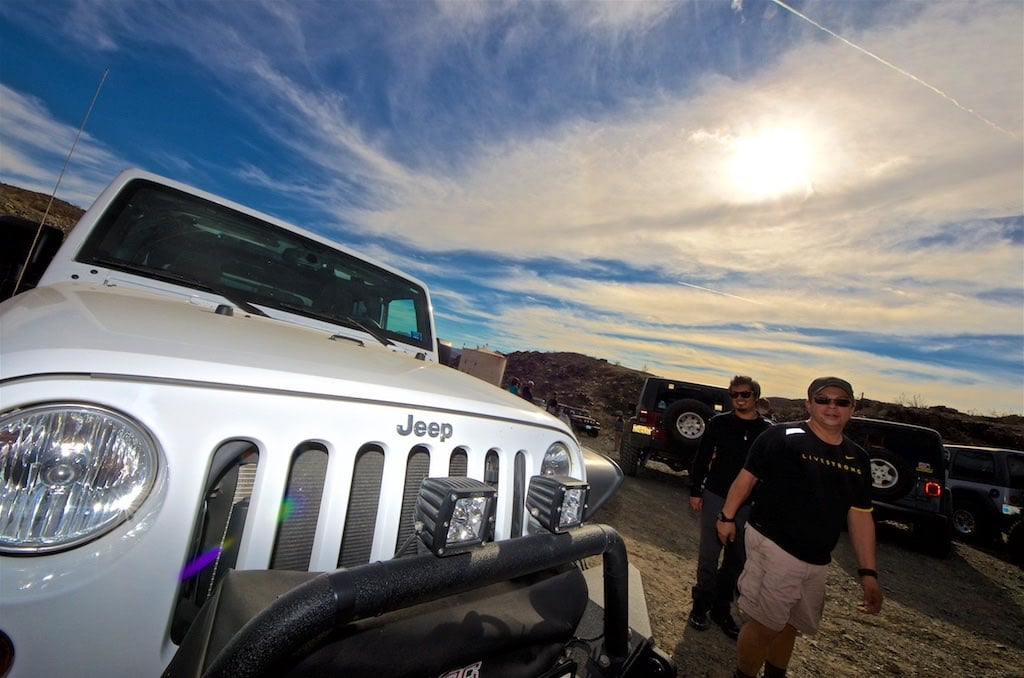 Jeeps at the Mission Mine in Joshua Tree
