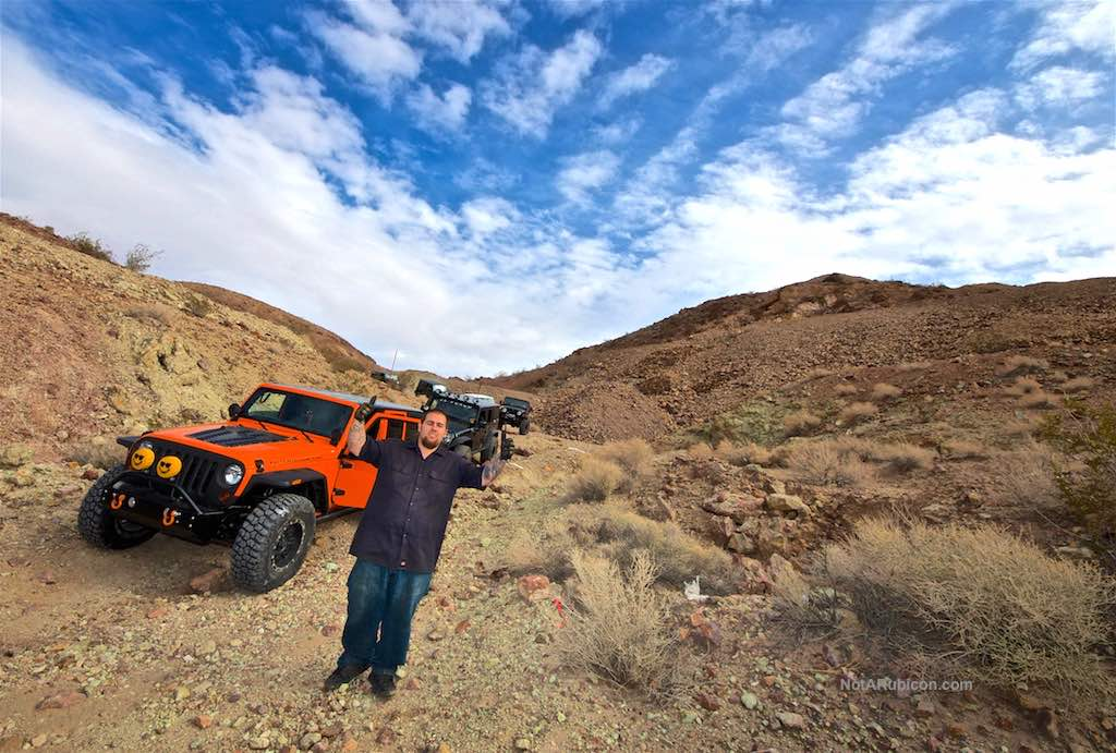 Ray Whitney in front of the Jeep NotARubicon