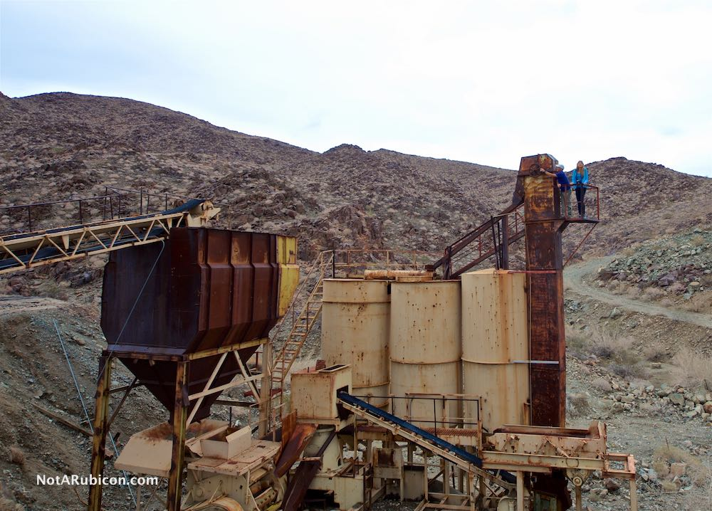 Remaning equipment standing at the Mission Mine