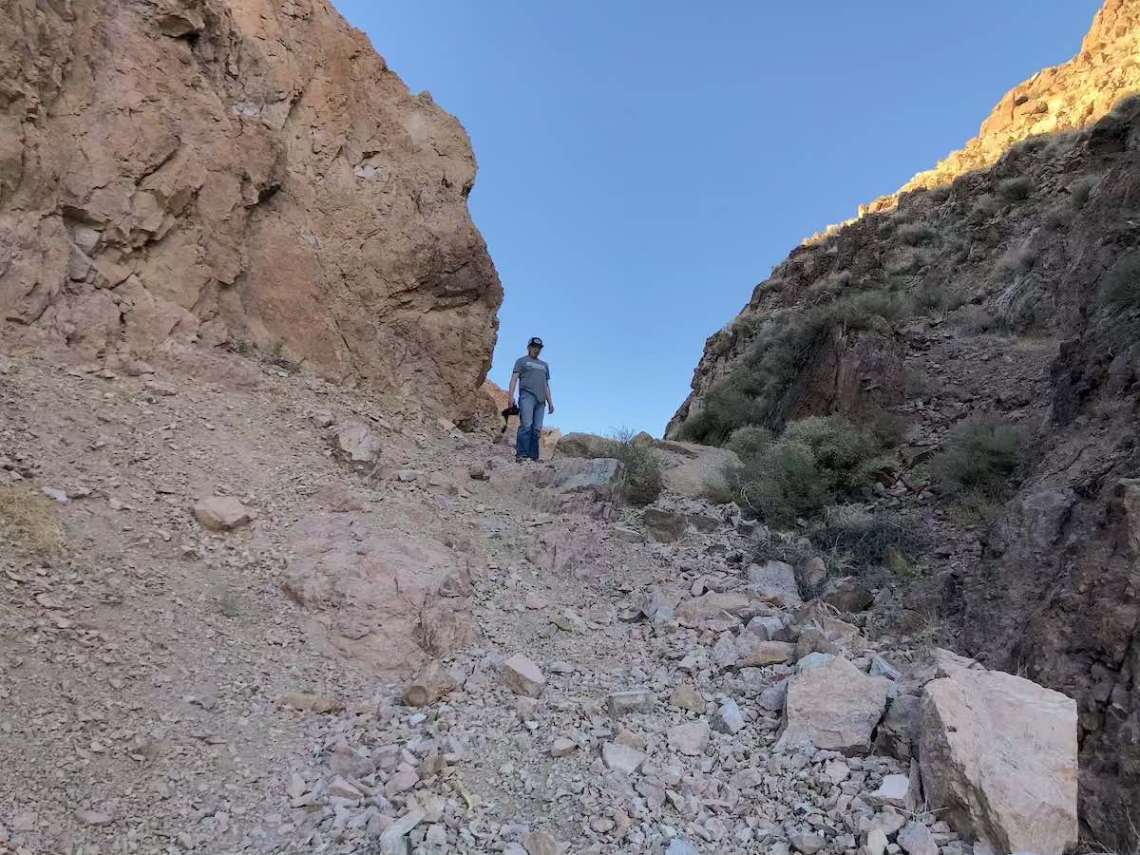 Loose and off-camber obstacle on NotaRubicon Trail