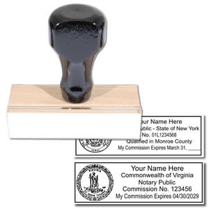 Official Rectangular Notary Rubber stamp
