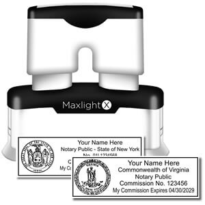MaxLight X Official Rectangular Notary Stamp